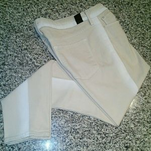 Vince Dylan Ankle Skinny pants Cream size 28